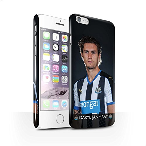 Offiziell Newcastle United FC Hülle / Glanz Snap-On Case für Apple iPhone 6S / Anita Muster / NUFC Fussballspieler 15/16 Kollektion Janmaat