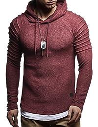 418691a16d472 LEIF NELSON Herren Hoodie Pullover Kapuzenpullover T-Shirt Longsleeve  Sweatshirt Hoody Sweatshirt Sweater…