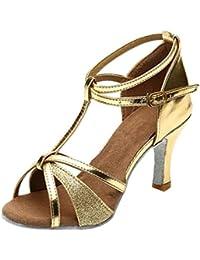 LILICAT✈✈ Zapatos de Baile/Zapatos Latinos de satén Mujeres Mujeres&Niña Zapatos Latinos de Baile Zapatillas de Baile de Salón Salsa Performance Calzado de Danza,Modelo