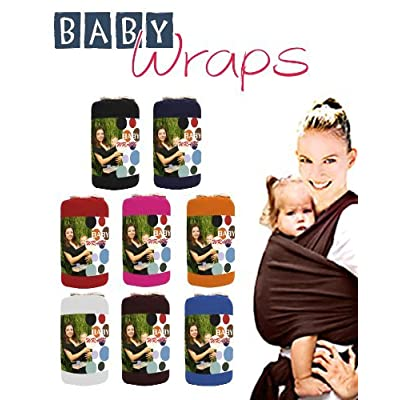 Baby Wrap / Sling / Carrier 0-3yrs with carry case - Various Colours (Black)