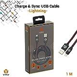 YZSY® Deluxe Lightning auf USB Sync-/Ladekabel   Hochwertiges Datenkabel iPhone-Kabel Schnelladekabel Lightningkabel für Apple-Geräte in einzigartigem Design   Länge: 1,00 m (Black Leather)
