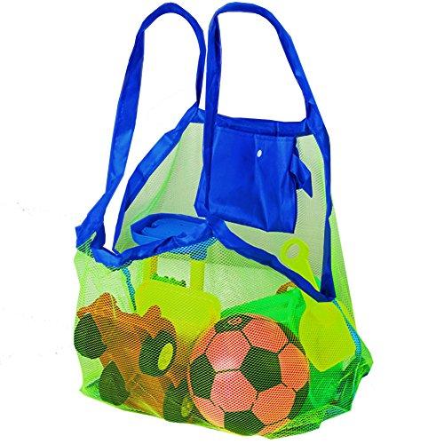 Bolsa de Malla para Arena de la Playa - Perfecta para Juguetes de Niños / Toallas etc - Ideal para Piscina - Bolsa Increíble para Verano