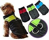 SUPEREX® Pet Dog Coat coats Jacket Hundemantel wasserdicht Winterjacke,Regenmantel Hund Hundebekleidung Hundejacke Warm Wintermantel gepolstert (Rot,S) - 5