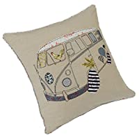 Divine By Design Camper (Surfer) Natural 43x43cm(17inx17in) Cushion Cover Approx 1