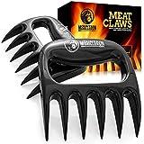 Mountain Grillers B077DKT757 Krallen-Hochwertige Meat Claws für amerikanisches BBQ Pulled Pork-Fleischkrallen aus Kunststoff zum Zerteilen-Spülmaschinenfeste Bärentatzen-Geschenkidee, Schwarz
