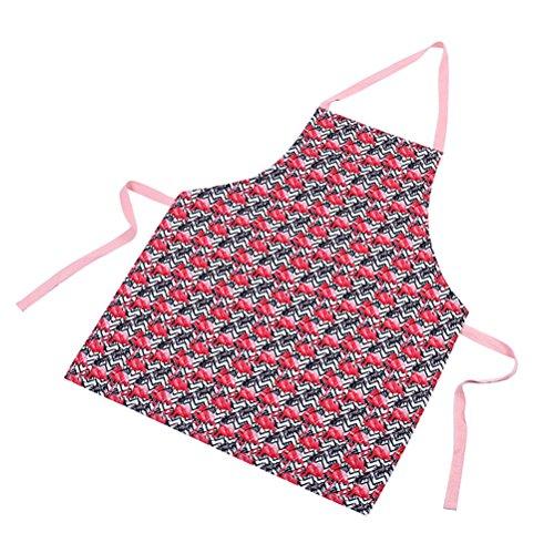 Profusion Kreis Staub resistent Flamingo Muster Overclothes Schürze für Cafe House, Schürze, 4#, Einheitsgröße (Kreis Ärmelloses)