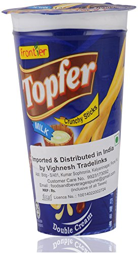 Topfer Crunchy Sticks, Chocolate & Milk - 40 grams (Pack of 5)