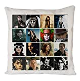 Johnny Depp Mix Poster, Pillow Case, Cushion Cover, Home Sofa D�cor