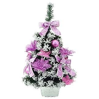 Christmas Concepts® 60cm (24 «) Árbol de Navidad helado con decoraciones de color rosa bebé – Árbol de Navidad pre decorado