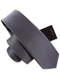 24da62ecd Andre 6 cm Gris sólido Corbata Flaca Arte clásico diseño Hombres 100%  Corbata de Seda Fiesta del Todo-fósforo…