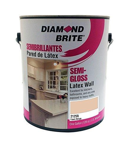 Gloss Semi Gloss Paint (Diamond Brite Paint 21250 1-Gallon Semi Gloss Latex Paint Fawn Beige by Diamond Brite Paint)