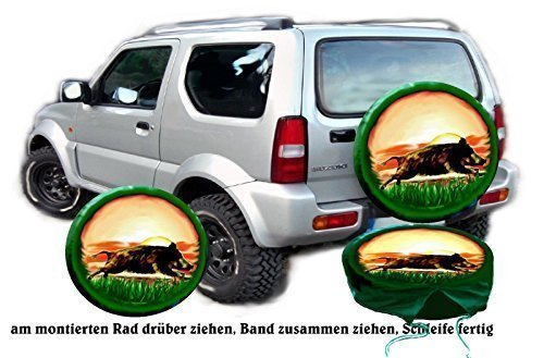 Bezug Reserverad Abdeckung Flüchtender Keiler für Ihren Suzuki (Jeep Reserverad Abdeckung Jagd)