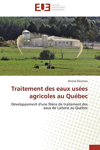 Traitement des eaux usées agricoles au québec par Nicaise Dovonou