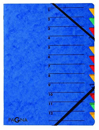 Pagna Ordnungsmappe Easy (Sammelmappe, 12 Fächer, 1-12) blau