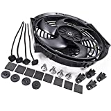 Universal 12V 80W 14' Electric Curved Radiator Intercooler Fan + Fitting Kit