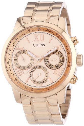 Guess Women's Quartz Watch Chronograph Display and Stainless Steel Strap W0330L2