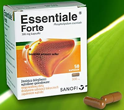 Essentiale Forte - 1 Month Supply - 200 capsules (4x 50 caps) - Total Liver Regeneration Protection Health Support Treatment - Liver damage caused by Medicine Alcohol Drugs Toxic Hepatitis - Clinically Proven