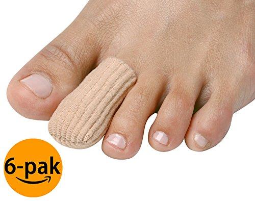 NatraCure Gel Zeh und Finger Kappe/Protektoren für Blasen, Schwielen, Hühneraugen und Eingewachsene Nägel - 6 Pack -
