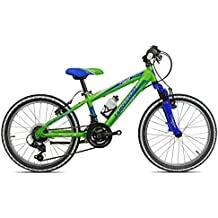 "junior tigre mtb Torpado bicicleta 20"" 2 x 6 V verde azul (niños)/bicycle mtb junior tigre 20"" 2 x 6's blue green (Kid)"