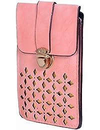 Ratash Golden Cut Work Sling Bag Light Pink (Hbd_55_56_57_14)