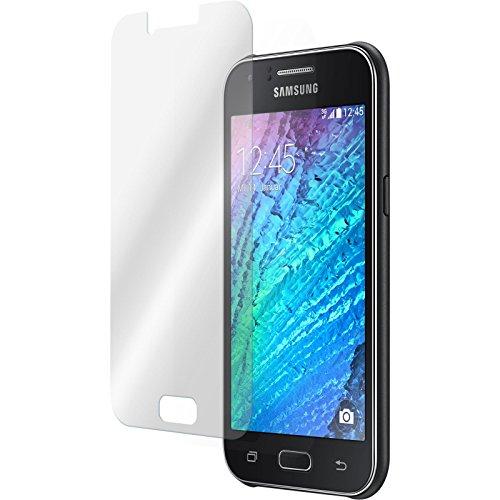 PhoneNatic 2 x Glas-Folie klar kompatibel mit Samsung Galaxy J1 (2015 - J100) - Panzerglas für Galaxy J1 (2015 - J100)