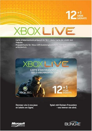 Xbox 360 - Live Gold Abonnement-Karte 12+1 Monate - Halo Wars Limited Edition