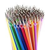 LIBERRWAY 120 Colors Gel Pen Refills - Glitter Metallic Pastel Fluorescence Neom, Pen Ink Refills for Adult Coloring Books, Scrapbooking, Drawing, Crafting, Doodling