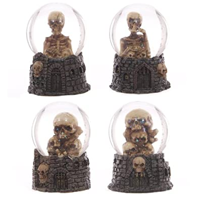 Skulls and Skeleton Castle Waterball Snow Globe