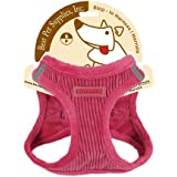 Voyager By Best Pet Supplies Plush Harness, Medium, Fuchsia