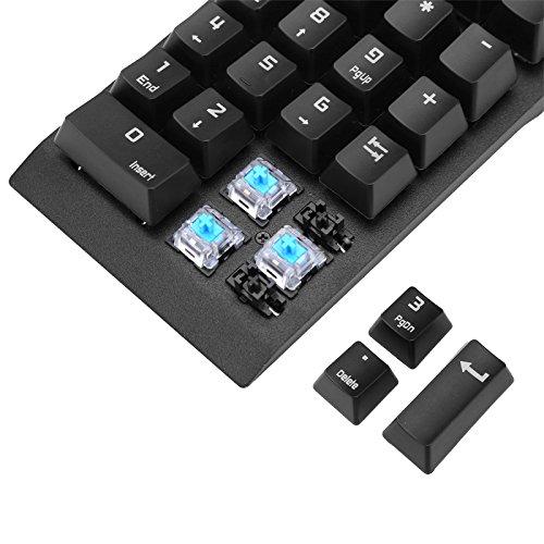 Rishil World Generic Numeric Keypad - 22 Keys, Blue Mechanical Key Switch, Plug And Play, USB 2. 0, For Windows, Android, Linux, iOS