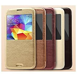 NEW Housse de protection KALAIDENG KA style avec support pour Samsung Galaxy I9600 S5 , Brun
