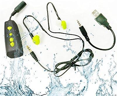 MP3 jugador impermeable 4GB impermeable reproductor de música IPX8- Escucha tu música mientras que la natación / funcionar Nuevo diseño resistente al agua deporte MP3 / profundidad del agua del jugador de 3 metros sea resistente al agua - Para todos los deportes recreativos - AquaCube (MP3-256)