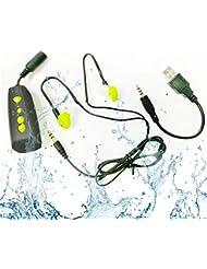 Waterproof MP3 Player 4GB Wasserdichte Musik Player IPX8- Hören Sie Ihre Musik beim Schwimmen / Running / Neues Design wasserdichte Sport-MP3-Player- Wassertiefe von 3 Metern wasserdicht sein - Für alle Freizeitsport - AquaCube ( MP3-256) (Grün)
