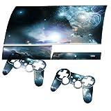 Sterne, Designfolie Sticker Skin Aufkleber Schutzfolie mit Farbenfrohem Design für PlayStation 3 Fat
