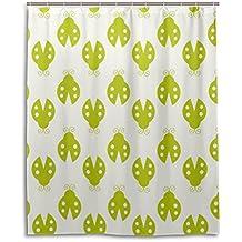 Rideau de douche de bain 152,4x 182,9cm, vert mignon Beatles, à la moisissure Polyester Rideau de salle de bain en tissu