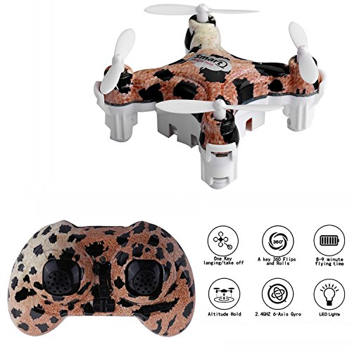 CELLSTAR Mini Drone CX-10D Mini Quadcopter 2.4G 4CH 6 Axis Gyro Remote Control Aircraft RC Helicopter RTF Pocket Drone with 3D Flip,One Key Return,Altitude Hold Functions(Leopard) Reviews