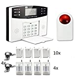 Burglar Alarm System,ECTECH Security Wireless GSM Autodial Call Home Intruder Alarm Set