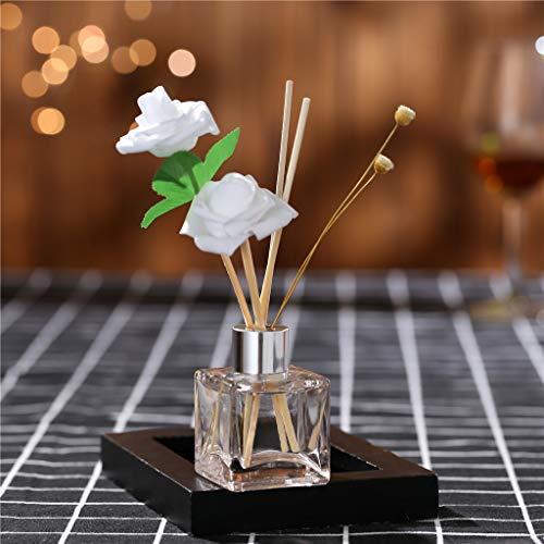 TianranRT❄ Diffusor Aromatherapie,Cane Öldiffusoren Mit Natürlichen Sticks,Glasflasche Und Parfümiertem Öl 50Ml (D) (Wels Uhr)