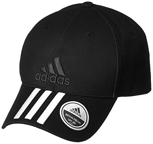 adidas Kinder 6 Panel Classic 3-Stripes Cotton Kappe Black/White OSFY