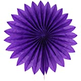 Generic Paper Home Decor Fan Hollow Out Flower Purple For Party Birthday Shower Festival Wedding
