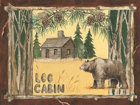 Feeling-at-home-Kunstdruck-Log-Cabin-BŠr-cm60x81-Poster-fuer-Rahmen - Log Cabin Lodge Dekor