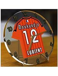 France Ligue 1 - Horloge de table avec T-shirt incorporé – Personnalisation gratuite: n'importe quel nom, numéro, équipe!!