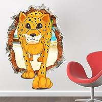 BlueLover 3D Baby Kid Camera Cartoon bella carina leopardo decalcomanie carta rimovibile adesivi parete arte regalo fai da TE divertente decorazione