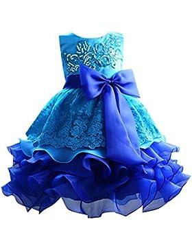 Moresave Dress Princess Tutu partito del vestito delle ragazze dei capretti di fiore di Bowknot paillettes multistrato