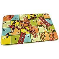 G.H.Y Winning A Snakes And Ladders Game Mat Fantastic Kids Mattress Carpet 40 * 60 Cm