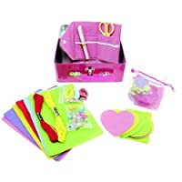 Childrens Sewing Kit in a Pretty Pink Tin. Great Craft Kits for Girls