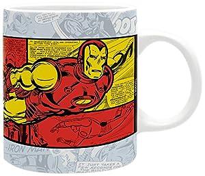 ABYstyle Chi Chi Marvel Taza Media Iron Man Vintage para Adultos, ABYMUG327