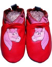 bbkdom - «Poney» Chaussons cuir souple bébé et enfant