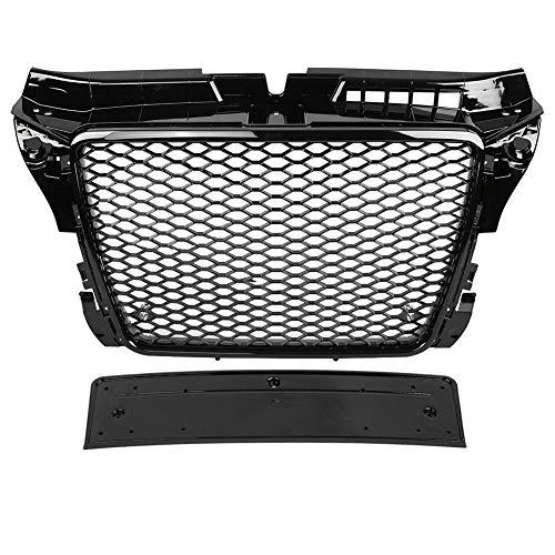 Frontgrill , Für RS3 Style Front Sport Hex Mesh Wabenhaubengrill Gloss Black für A3 / S3 8P 09-12