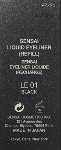 Sensai Augen femme/woman, Liquid Eyeliner Refill Nr. 01 Black (1 Stck), 1er Pack (1 x 1 Stck) - 2
